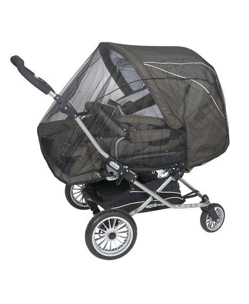 malooni, moskitiera na wózek bliźniaczy czarna