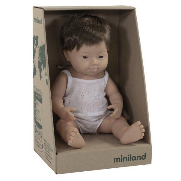 Miniland, chłopiec Europejczyk DS, 38cm