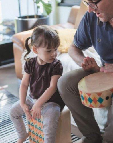 Plan Toys, skrzynka perkusyjna, bęben
