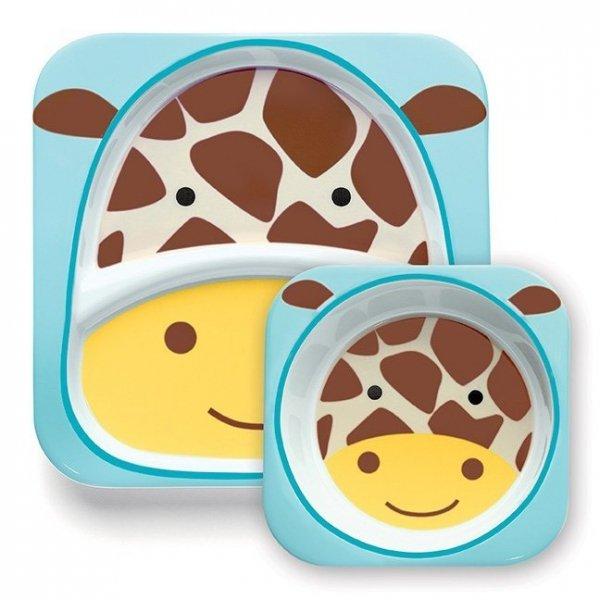 skip hop, zestaw naczyń z melaminy, żyrafa