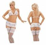Roxana Open bra, suspenderbelt and string L/White
