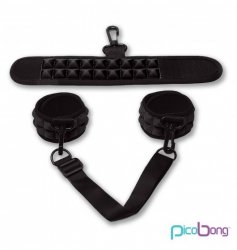 Picobong by LELO - sex kajdanki, czarne (Soft Handcuffs Black)