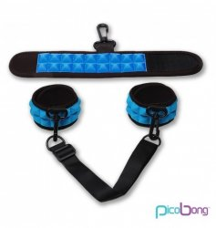 Picobong by LELO - sex kajdanki, niebieskie (Soft Handcuffs Blue)