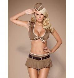 Obsessive 814-CST-4 żołnierka kostium S/M