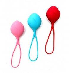 Kulki gejszy dla początkujących Satisfyer Balls Single (czerwona, różowa, niebieska)