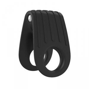 OVO B12 RING - erekcyjny pierścień wibrujący (czarny)