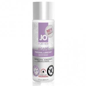 System JO For Her Agape Lubricant Warming 60 ml - rozgrzewający lubrykant na bazie wody dla kobiet
