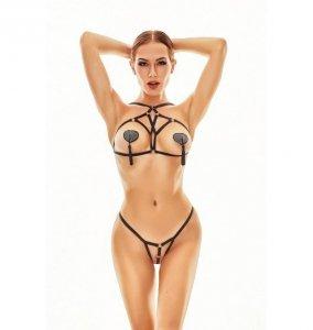 Anais Xanto harness i stringi S/M (czarny)