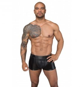 H058 Shorts made of powerwetlook and 3D net S