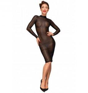 Noir handmade F182 Klasyczna sukienka z tiulu XL (czarny)