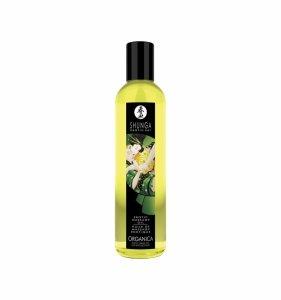 Shunga Exotic Green Tea Organic Massage Oil 250 ml olejek do masażu erotycznego (zielona herbata)