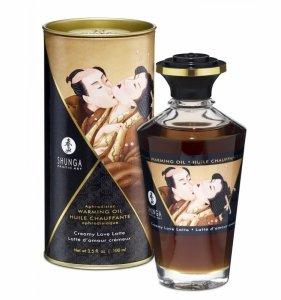 Shunga Aphrodisiac Oil Creamy Latte 100 ml - olejek do masażu erotycznego (kremowe latte)