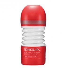 Masturbator Tenga Rolling Head Cup Medium - masturbator elastyczny (czerwony)