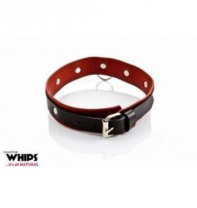 Whips Obroża damska, średnia (czarno - czerwona)