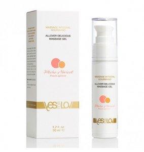 YESforLOV Allover Lubricating Massage Gel Peach Apricot 50 ml - żel do masażu o smaku brzoskwiniowo-morelowym