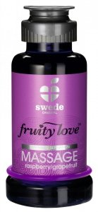 Swede Fruity Love Massage - owocowy żel do masażu 100 ml (malina - grejpfrut)