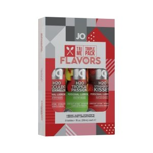 System JO Tri Me Triple Pack Flavors - zestaw lubrykantów smakowych 3x30 ml