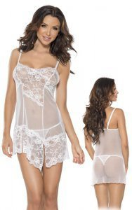 Roxana Mini Dress and String S-M/White