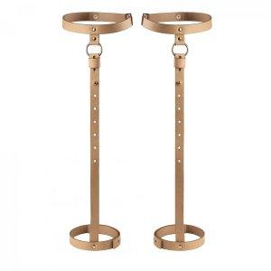 Bijoux Indiscrets MAZE Back Leg Garter - uprżąż na łydki skóropodobna (brązowy)