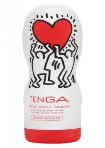 Masturbator Tenga Original Vacuum Cup with Keith Haring (Głębokie Gardło) - masturbator oralny