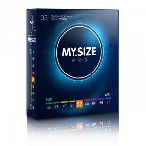 MY.SIZE Pro 57 mm - Prezerwatywy (1op./3szt.)
