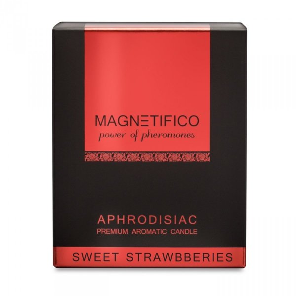 Aromatyczna świeca z feromonami MAGNETIFICO Aphrodisiac Candle Sweet Strawberries