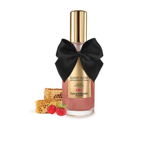 Olejek do masażu SUNSET GLOW - Wild Strawberry Shimmer Oil
