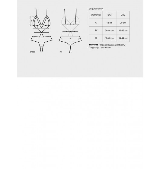 Obsessive Bisquitta body L/XL