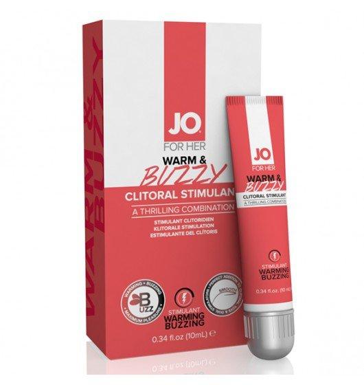 System JO For Her Clitoral Stimulant Warming Warm &Buzzy Original 10 ml - lubrykant rozgrzewający na bazie wody dla kobiet