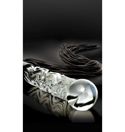 Icicles szklane dildo z pejczem - No. 38 Glass Whip
