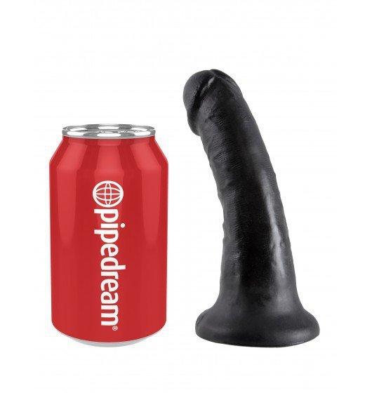 King Cock czarne dildo - 6'' Cock sztuczny penis (czarny)