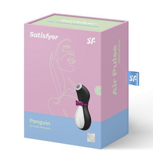 Satisfyer Pro Penguin - Masażer łechtaczki (czarno - biały)