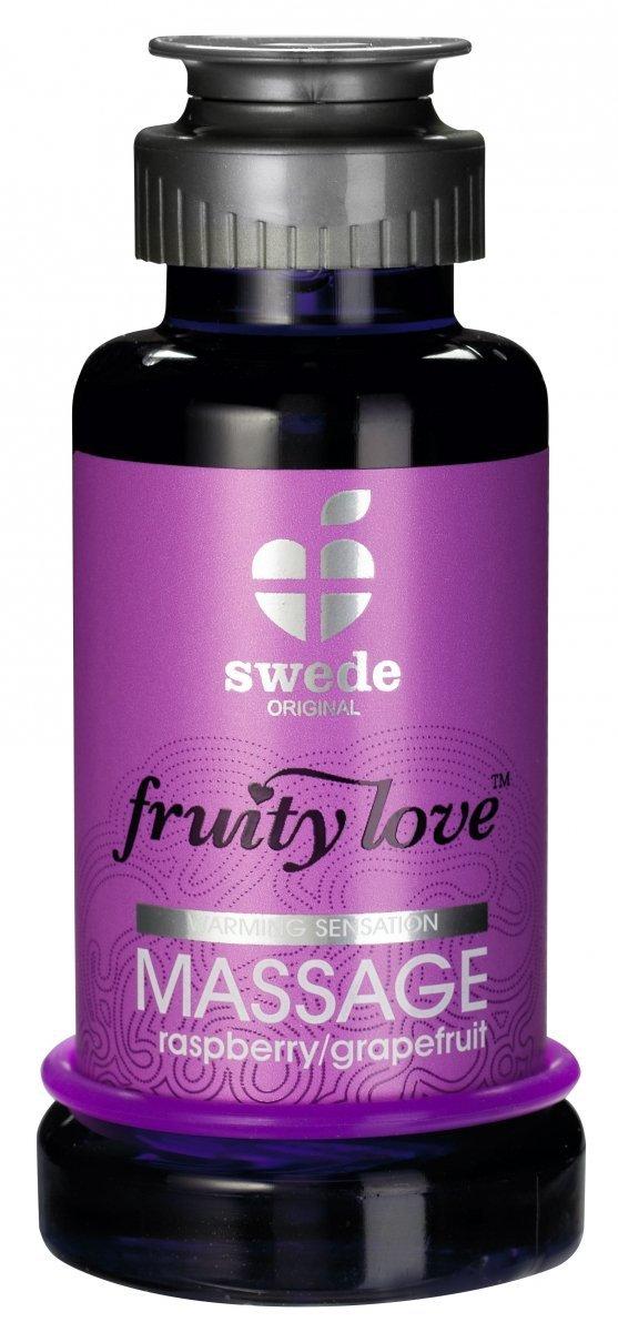 Swede Fruity Love Massage - owocowy żel do masażu 100 ml (malina - grejpfrut)