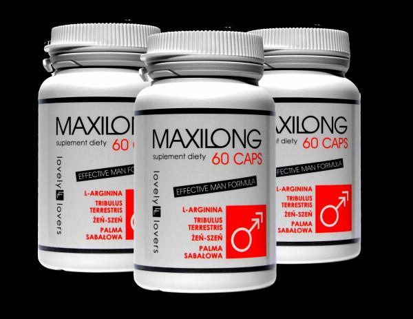 Zestaw promocyjny 3x LOVELY LOVERS MAXILONG 60 CAPS kapsułki powiększające rozmiar erekcji u mężczyzn