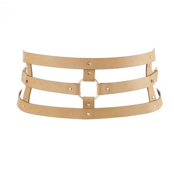 Bijoux Indiscrets MAZE Wide Belt - pas skóropodobny (brązowy)