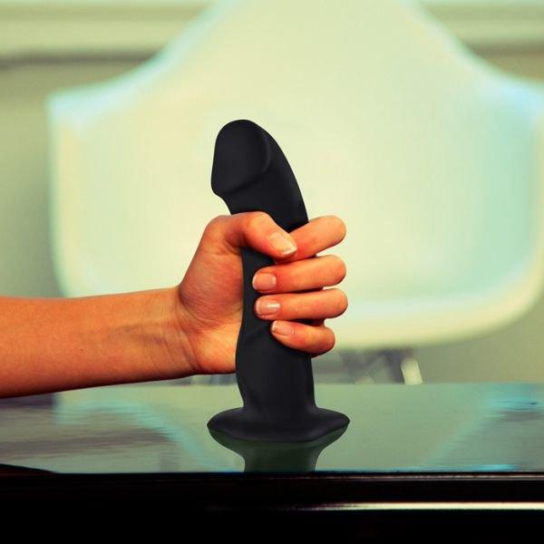 FUN FACTORY czarne dildo dla kobiet - Boss sztuczny penis (czarny)