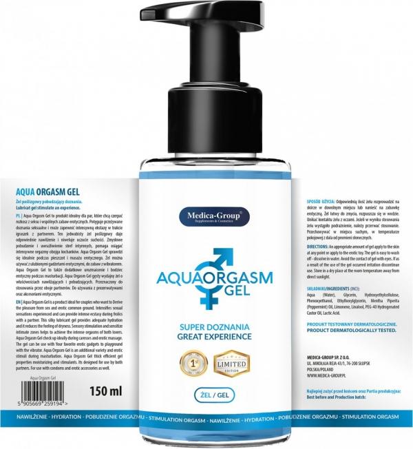Medica Group Aqua Orgasm Gel 150 ml - Żel poślizgowy pobudzający doznania