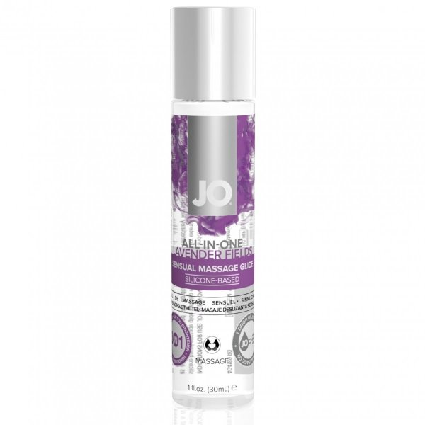 System JO All-in-One Sensual Massage Glide Lavender 30 ml - silikonowy żel do masażu