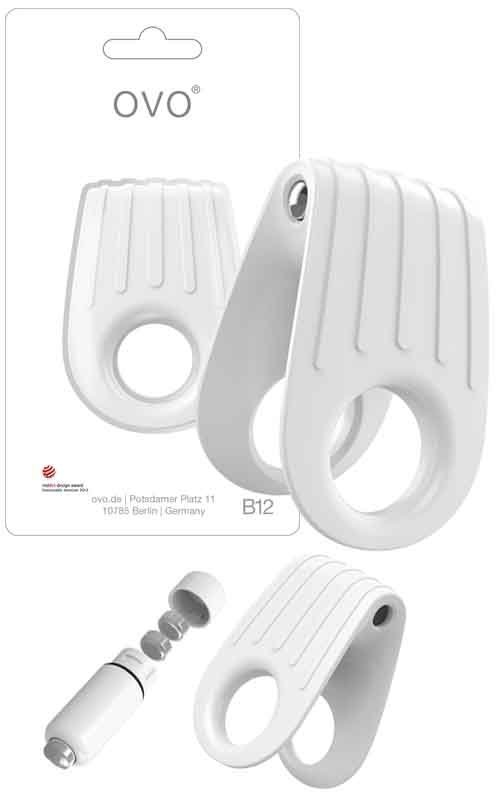 Pierścień erekcyjny Ovo B12 Vibrating Ring White