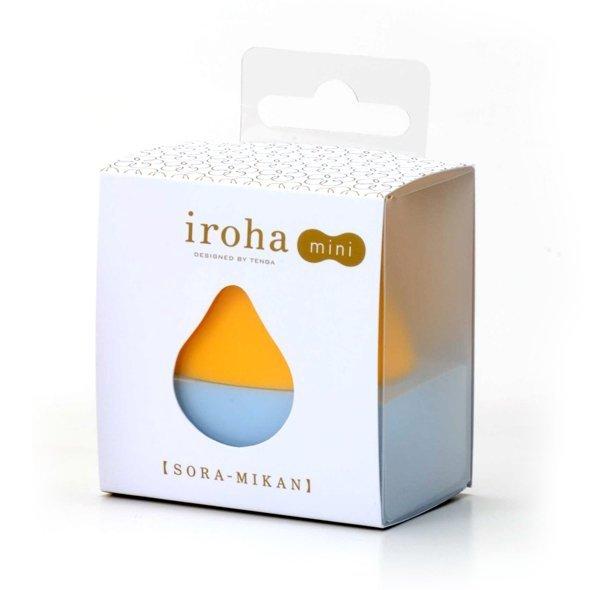 Iroha by Tenga - Mini Sora Mikan - Wibrujące Jajko (pomarańczowo/jasno niebieski)