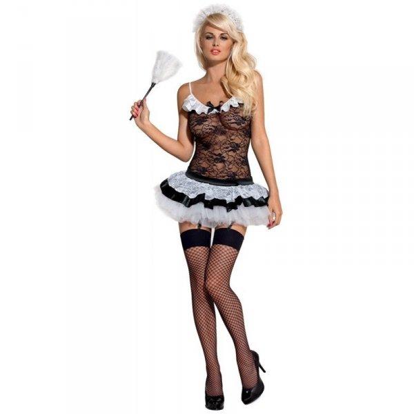 Obsessive Housemaid kostium L/XL (czarny, biały)