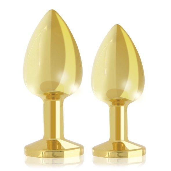 Rianne S zestaw korków analnych - Boooty Plug Luxury Set 2x (złoty)