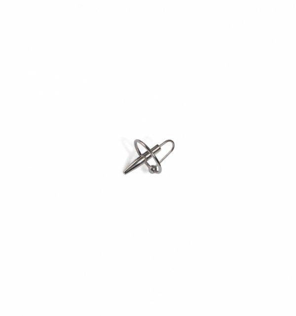 Pierścień z sondą do cewki moczowej Titus Range: Penis Plug with Ring 25mm