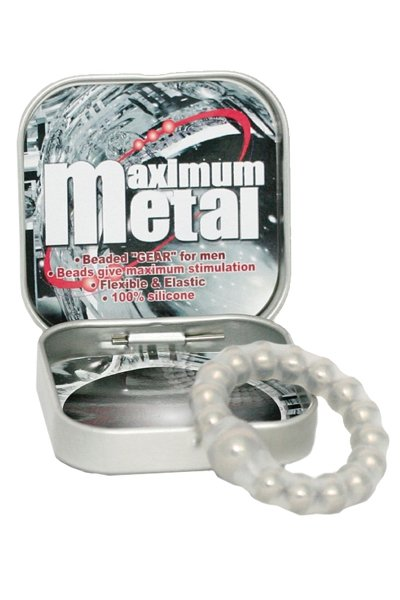 Maximum Metal Transparant Ring w Beads