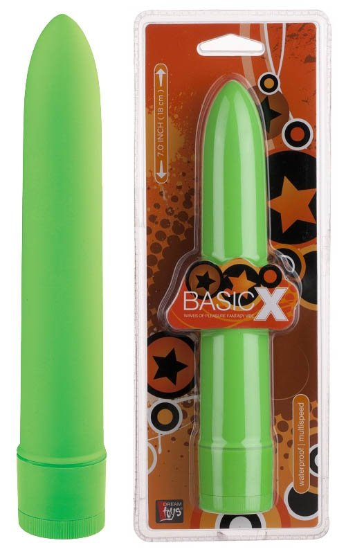 Basicx Multispeed Vibrator Green 7inch