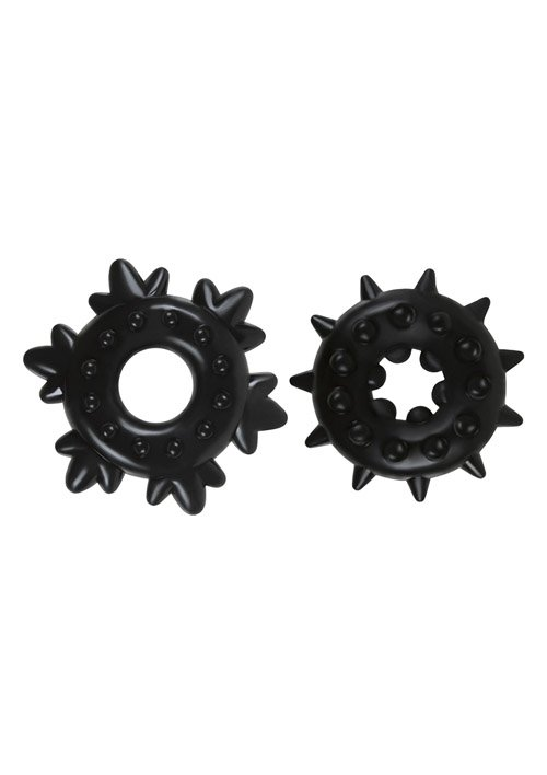 Renegade Spike Rings Black