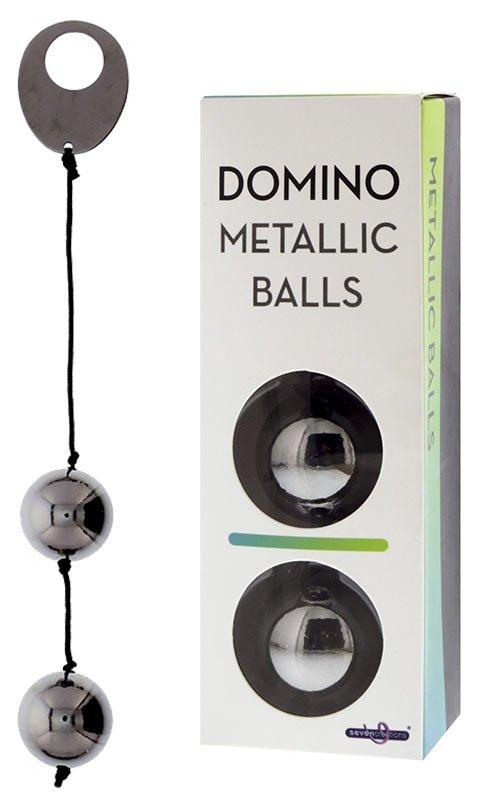 Domino Metallic Balls -Chrome Black