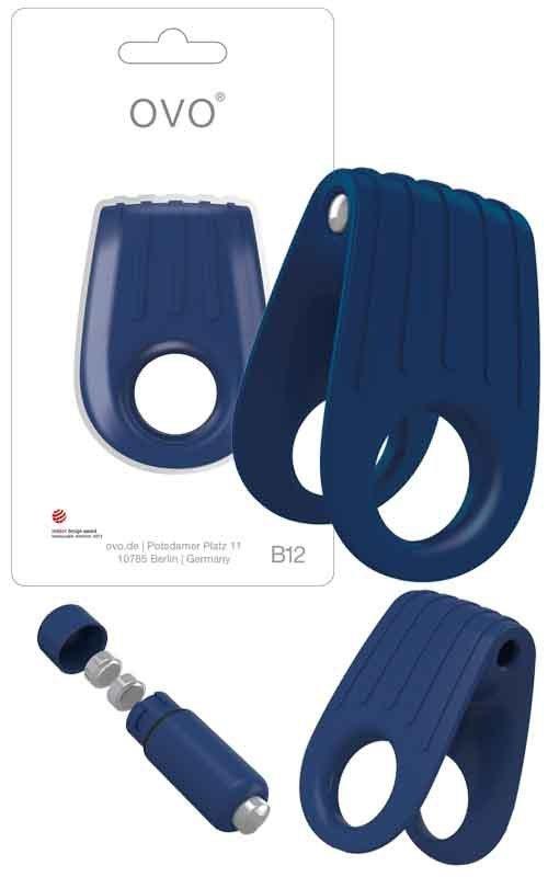 Pierścień erekcyjny Ovo B12 Vibrating Ring Blue