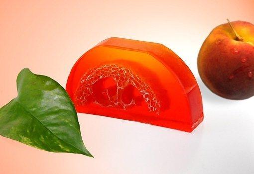Mydło Brzoskwinia loofah 100g