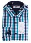 Koszula z długim rękawem Slim Fit - w kolorową kratę